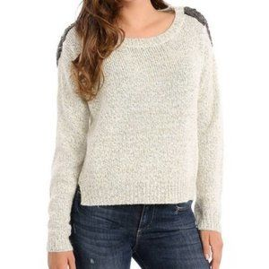 NWOT Guess Maria Cream/Gold Wool Sweater   Size M
